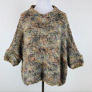 Zara Knit Italian Yarn Chunky Sweater Sz Small